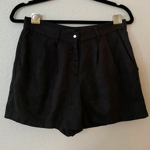 Lucca Couture | Faux Sueded Black Shorts